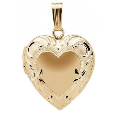 14k Yellow Gold Floral Heart Locket - Juliet