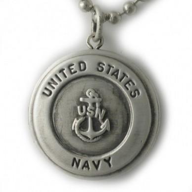 Silver U.S. Navy Round Locket