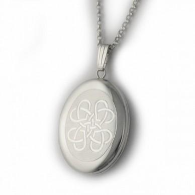 Sterling Silver Celtic Locket - Love Knot
