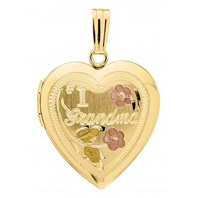 14k Gold Filled #1 Grandma Heart Locket
