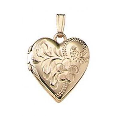 Gold Filled Child Heart Locket - Kendra