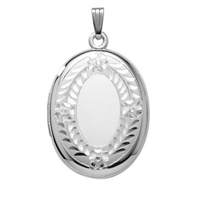 Sterling Silver Oval Locket - Beverly