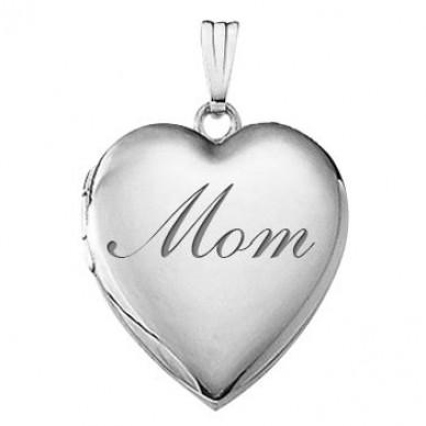 "Sterling Silver ""Mom"" Locket"