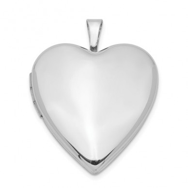 Sterling Silver Heart Locket - Linda