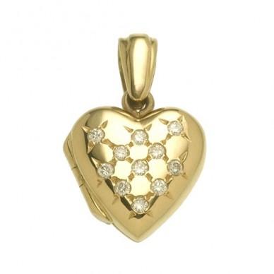 Childrens Diamond Heart Locket - Destiny