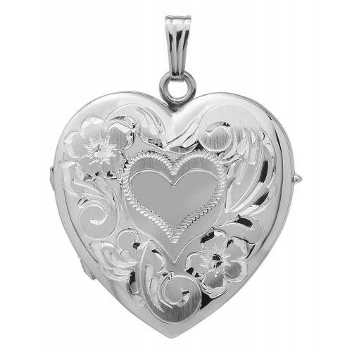 Sterling Silver Family Heart Locket - Darla