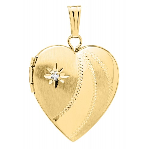 Gold Filled with Diamond Heart Locket- Janet