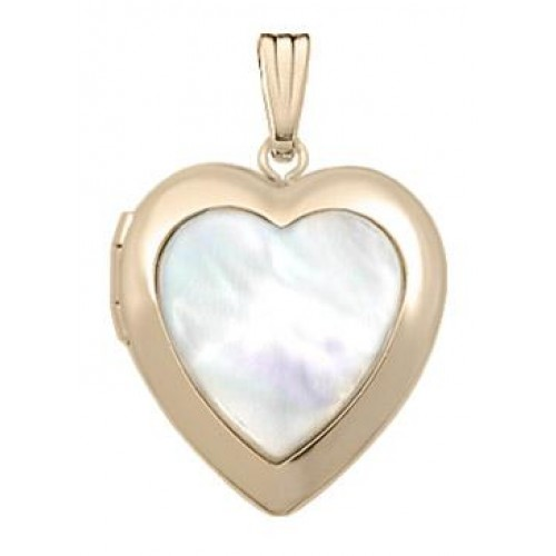 Gold Filled Mother of Pearl Heart Locket
