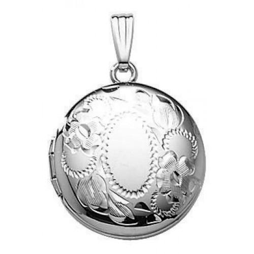 Sterling Silver Round Locket - Henriette