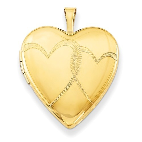 14k Gold Filled Interlocking Heart Photo Locket