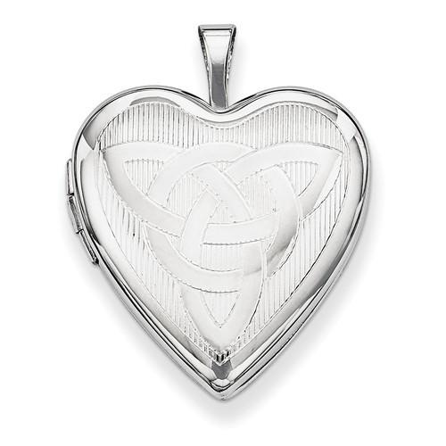 Sterling Silver Trinity Heart Photo Locket