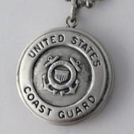 Silver U.S. Coast Guard Round Locket