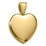 18k Yellow Gold Premium Heart Locket