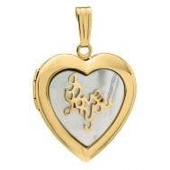 14k Gold Filled ' I Love You ' Heart Locket