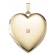 Large 14k Gold Filled Heart Locket - Mallory