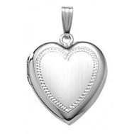 Sterling Silver Heart Locket - Emily