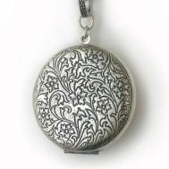 Silver Large Antique Round Locket
