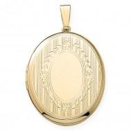Gold Filled Oval Locket - Beverly