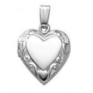 """Sterling Silver """"Sweetheart"""" Heart Locket"""