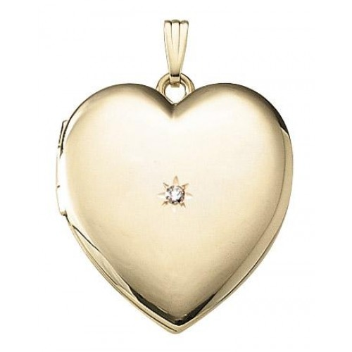 Large 14k Gold Filled Heart Locket - Mallory