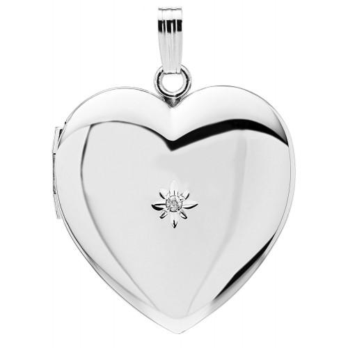 Sterling Silver Heart Locket - Mallory