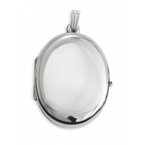 """Sterling Silver Family Oval  Locket - Kate 3/4"""""""