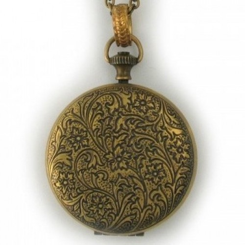 Watchcase Brass Locket Pendant