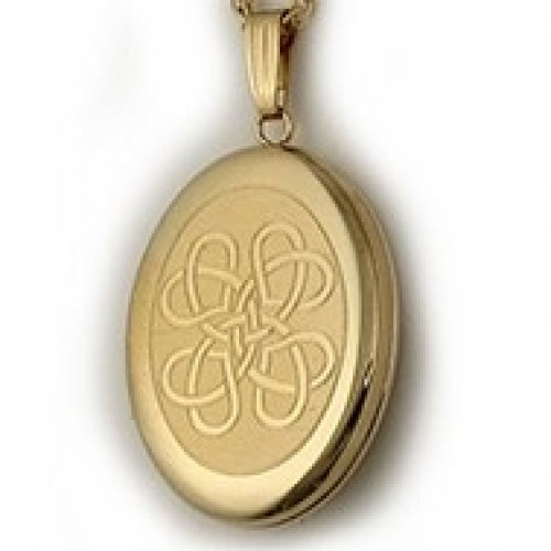 14k Gold Filled Celtic Knot Oval Locket