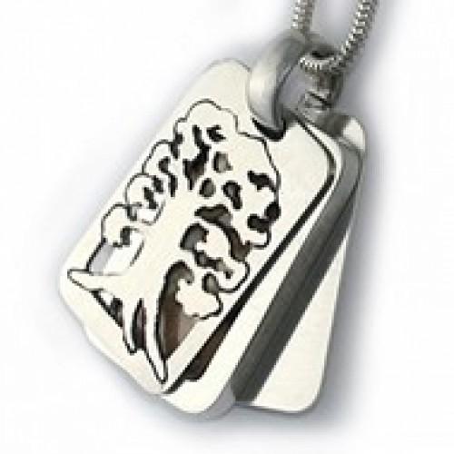 Sterling SilverTree of Life Rectangle Locket Pendant