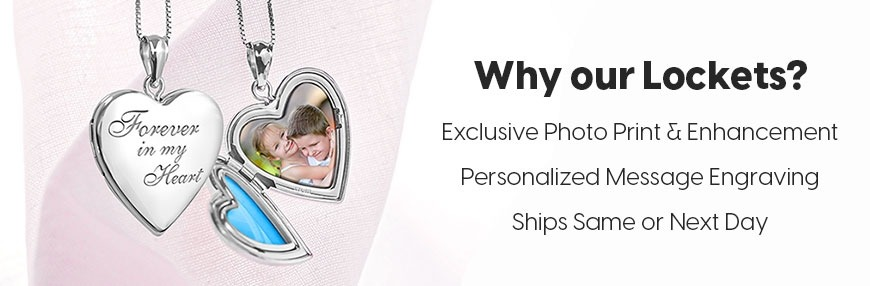 4 Photo Family Lockets