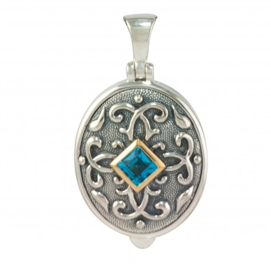 Sterling Silver Antique Birthstone Locket