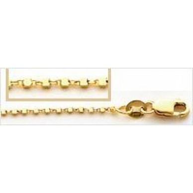 Men's Yellow Gold Bead Chain