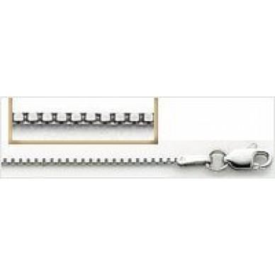 Children's White Gold Box Chain, Standard