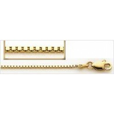 Women's Yellow Gold Box Chain, Standard