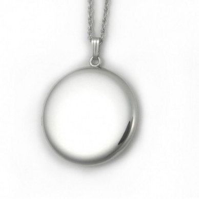 "Sterling Silver Round Locket -Veronica 1 1/4"""
