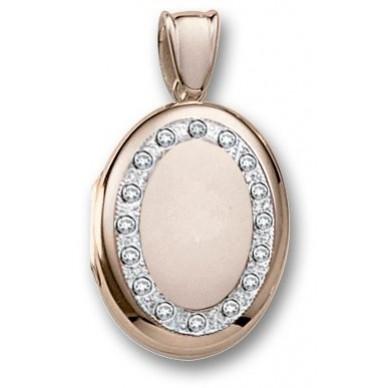 18k Yellow Gold Diamond Oval Locket - Bethany