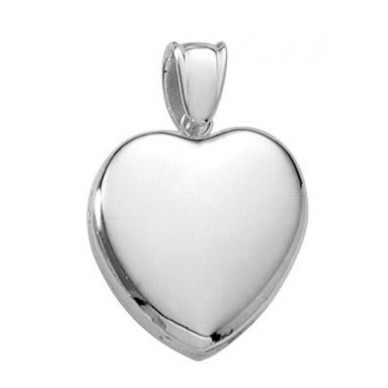 Sterling Silver Premium Heart Locket - Kristin