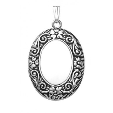 Large Sterling Oval Locket - Dorothy