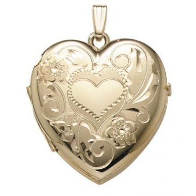 14K Gold Filled Four Photo Heart Locket - Darla