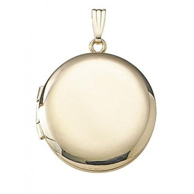 14k Yellow Gold Round Locket -Veronica