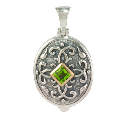 Peridot Oval Locket - Isabelle