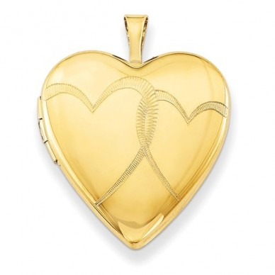 14k Gold Filled Interlocking Heart Photo Locket
