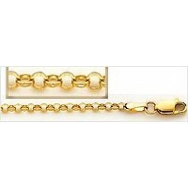 Women's Yellow Gold Rolo Chain