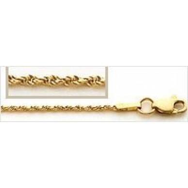 Men's Yellow Gold Diamond Cut Rope Chain