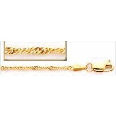 Women's Yellow Gold Singapore Chain