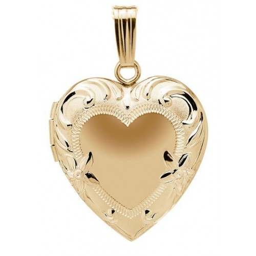 14k Gold Filled Floral Heart Locket - Juliet