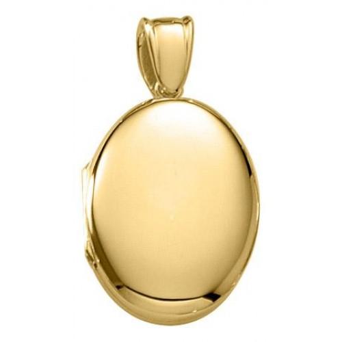 14K Gold Oval Locket - Olivia