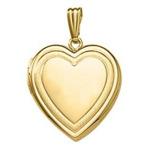 14k Gold Yellow Gold  Heart Locket - Bailey