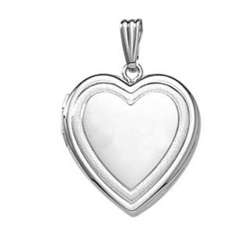 Sterling Silver Heart Locket Necklace - Leigh
