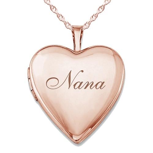 "Sterling Silver Rose Gold Plated ""Nana"" Locket"